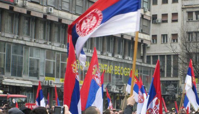 Foto: Mii de persoane au participat la proteste antiguvernamentale, la Belgrad