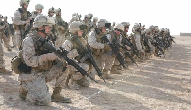 Foto: Militarii americani, antrenamente cu cei români, la Babadag