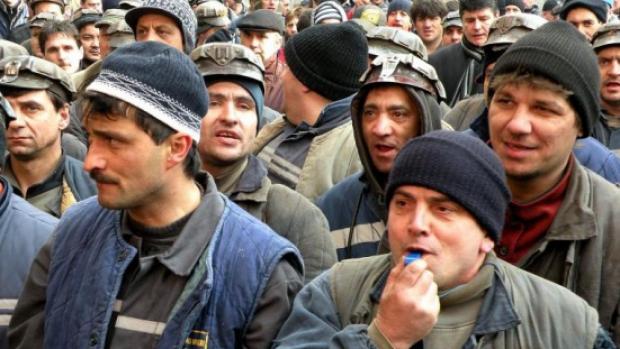 Foto: Solidaritate cu protestul minerilor şi energeticienilor