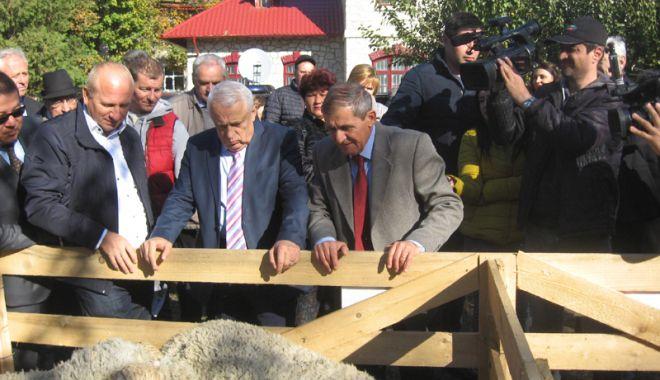 Foto: Ministrul Petre Daea în vizită la Merinosul de Palas