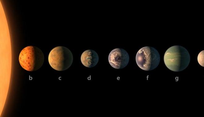 Foto: Anunț istoric: NASA a descoperit planete locuibile, de mărimea Terrei, la 40 de ani lumină de Soare