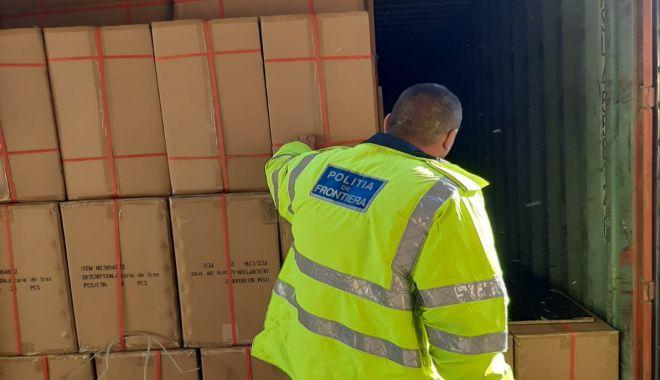 Foto: Țigări de peste un milion de euro, confiscate din Portul Constanța
