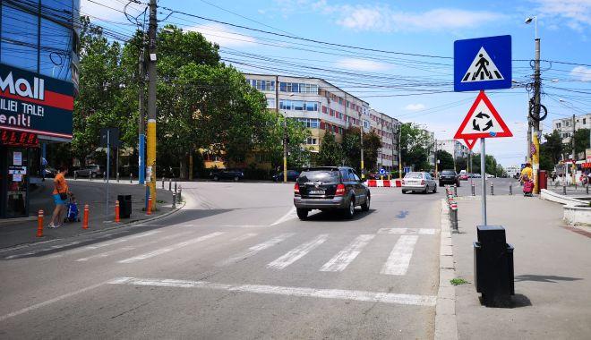 Foto: Modificări în trafic. Se mută trecerea de pietoni de pe strada Adamclisi
