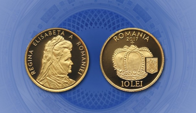 """Foto: Avem o monedă din aur cu tema """"Istoria aurului – Coroana reginei Elisabeta a României"""""""