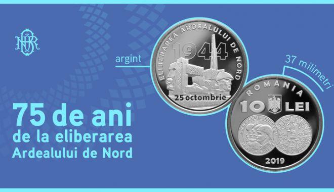 Foto: Monedă dedicată eliberării Ardealului de Nord
