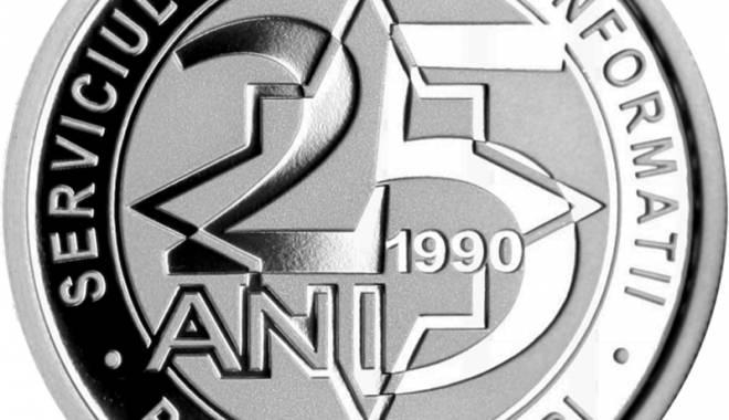 Foto: Monedă din argint dedicată SRI