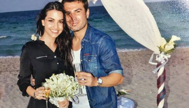 Foto: Adrian Mutu și Sandra Bachici s-au căsătorit pe o plajă din Cuba