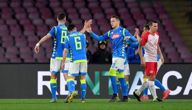 """Foto: Napoli şi Chelsea, cu un pas în """"sferturile"""" Europa League"""