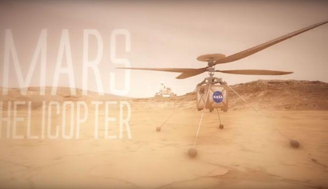 Foto: VIDEO / Cum arată elicopterul pe care NASA plănuieşte să-l trimită pe Marte