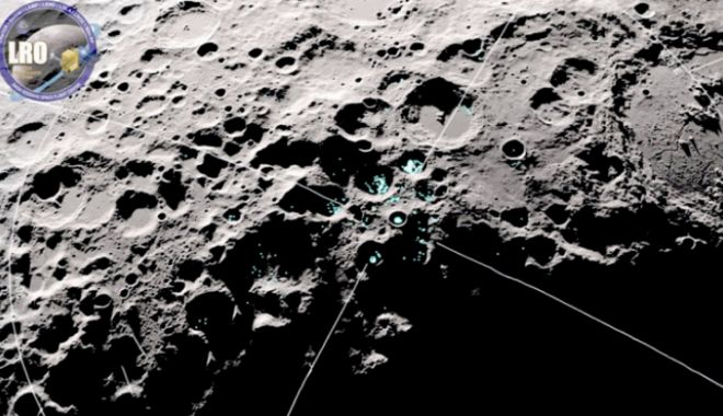 Foto: NASA a descoperit molecule de apă în mișcare pe Lună