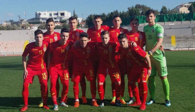 Foto: Naţionala României U17 a terminat la egalitate cu reprezentativa Ciprului