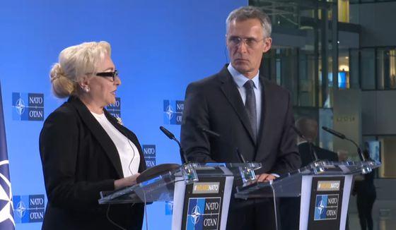 """Foto: Premierul Dăncilă: """"România rămâne un aliat de încredere al NATO"""""""