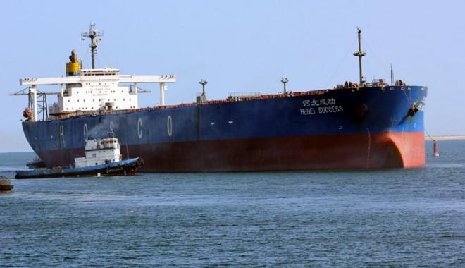 Portul Constanţa a primit  vizita celei mai mari nave care a intrat vreodată în Marea Neagră
