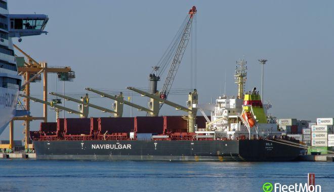 Foto: O navă în derivă, în Atlantic de Sud