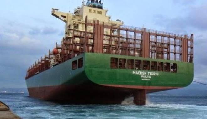 """Foto: Nava """"Maersk Tigris"""" va fi eliberată  după rezolvarea litigiului comercial"""