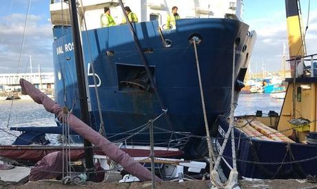 "Foto: Nava ""Mali Rose"" a făcut ravagii la acostare"