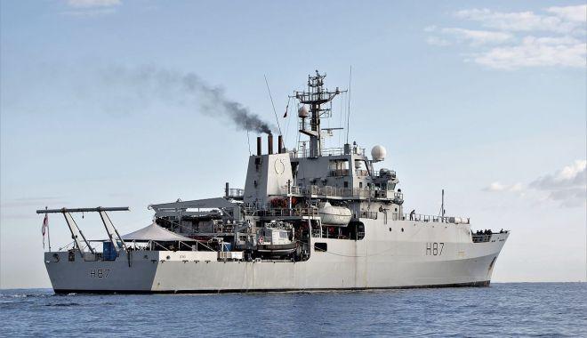 """Foto: Nava maritimă britanică HMS """"Echo"""", aşteptată  în portul Constanţa"""