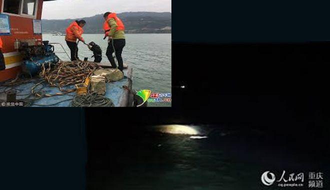 Foto: O navă s-a răsturnat pe fluviul Yangtze, cinci marinari au dispărut