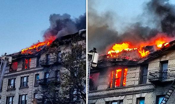 Foto: INCENDIU puternic în New York. Peste 200 de pompieri au intervenit