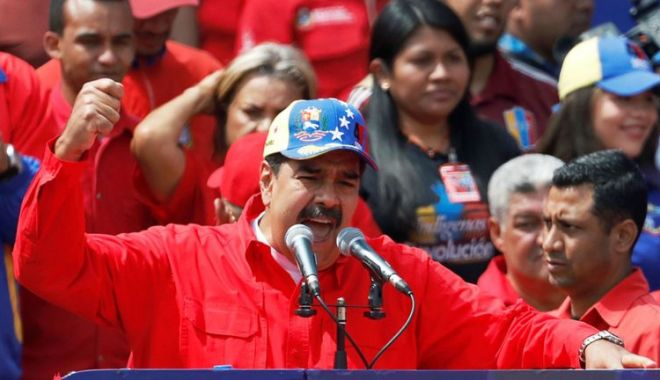 """Foto: Nicolas Maduro denunţă """"violarea"""" ambasadei Venezuelei în SUA"""