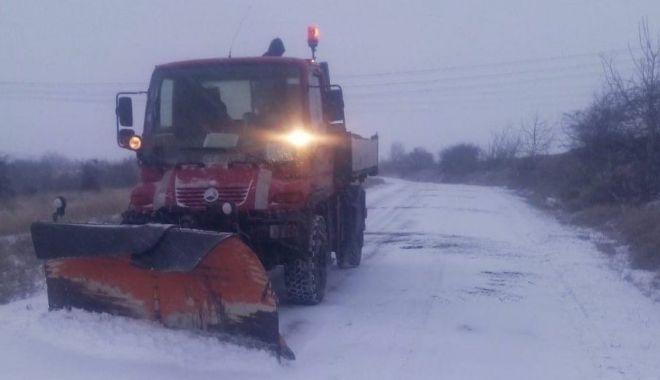 Foto: Ninge la Constanţa. Cum se circulă în judeţ, la această oră