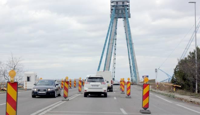 Foto: Noi restric�ii de circula�ie pe podul de la Agigea