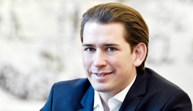Foto: Noul cancelar austriac,  prima vizită la Bruxelles