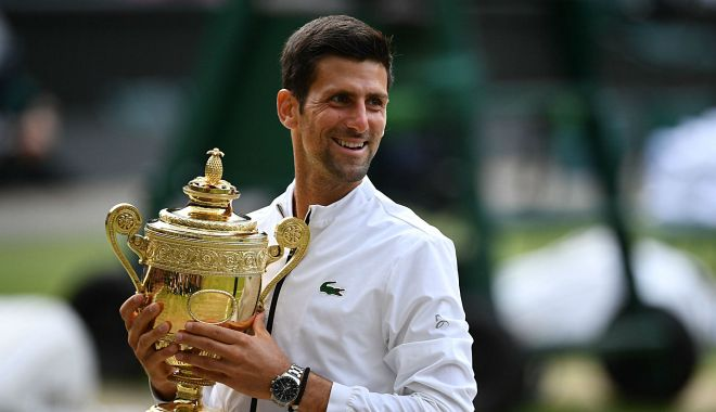 Foto: Novak Djokovic, câștigătorul de la Wimbledon, mărturisire emoționantă: 'Când eram copil îmi făceam trofee în camera mea...'
