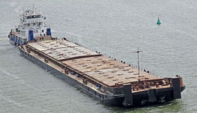 Foto: O barjă cu 3.300 de tone de cereale s-a scufundat în Marea Azov