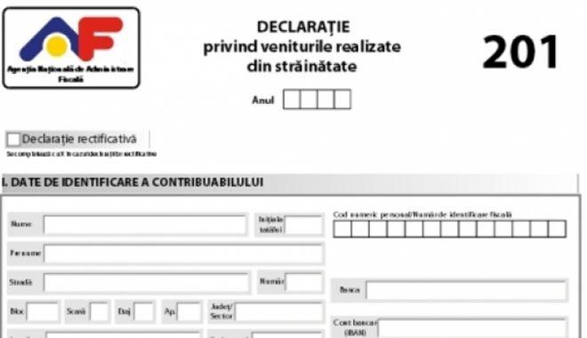 Foto: Obligațiile cu privire la declararea veniturilor din străinătate