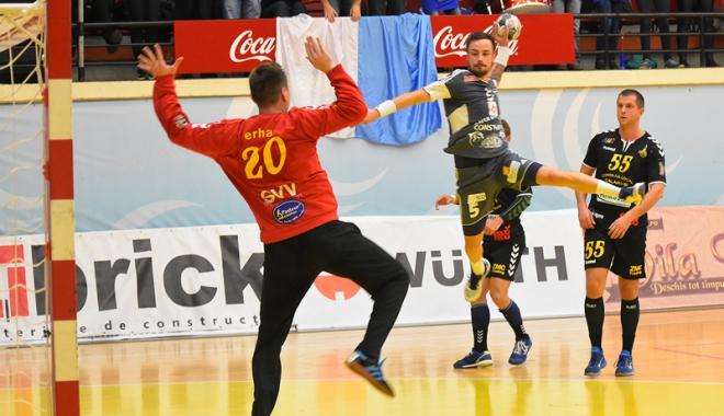 Foto: HC Dobrogea, spre grupele Cupei EHF. Meciul decisiv se joacă la Sala Sporturilor