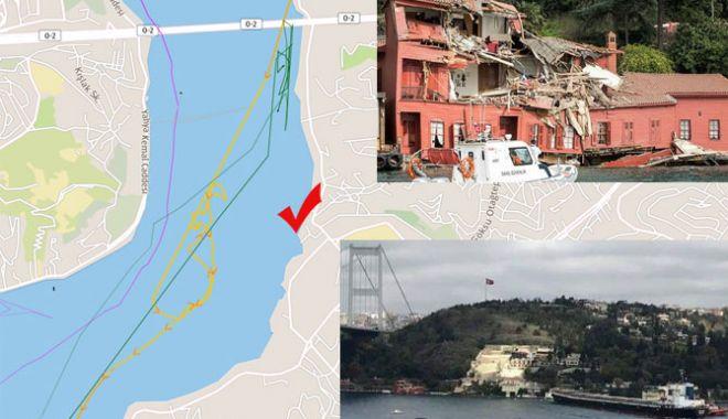 Foto: O navă a distrus o clădire istorică din Strâmtoarea Bosfor