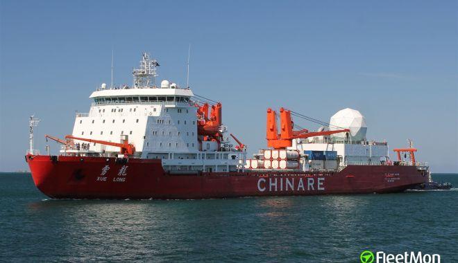 Foto: O navă de cercetare chineză a lovit un iceberg