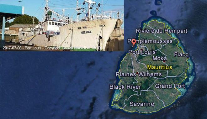 Foto: O navă de pescuit s-a scufundat în Port Louis