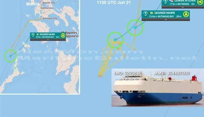 O navă car carrier în flăcări a fost abandonată - onavainflacari-1561298183.jpg