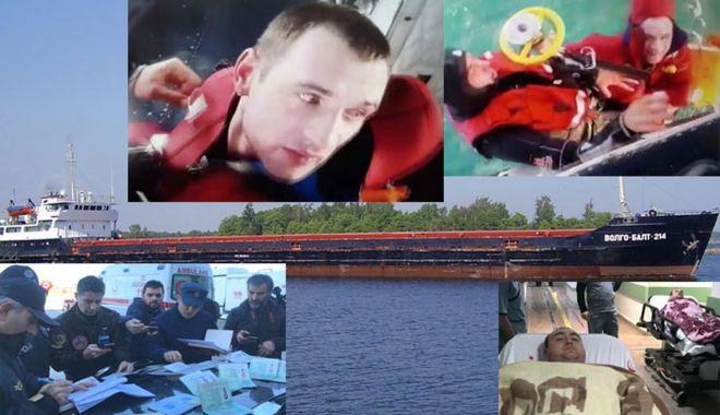Foto: O navă s-a scufundat în Marea Neagră; șase marinari au murit