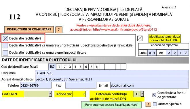 Foto: O nouă modificare a declarației privind contribuțiile și impozitul pe venit