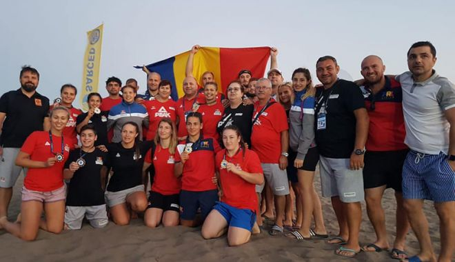 Foto: Opt medalii pentru România, la Campionatele Mondiale  de lupte pe plajă