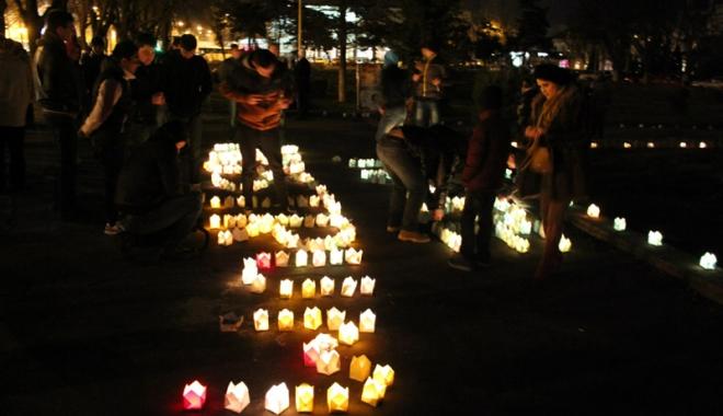 Foto: Parcul Tăbăcărie, luminat de Ziua Pământului