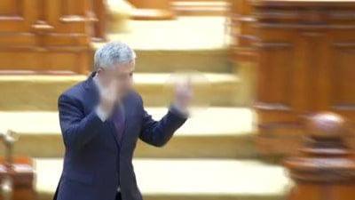 Foto: VIDEO. IMAGINILE RUŞINII! Florin Iordache, semne obscene în Parlament