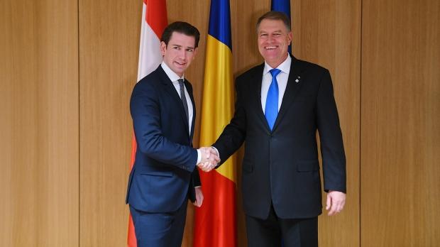 Foto: Cancelarul Austriei, vizită oficială în România