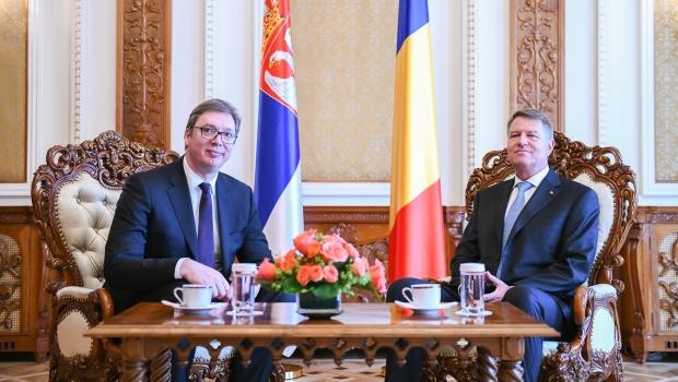 Foto: Klaus Iohannis, despre cazul lui Sebastian Ghiţă, la întâlnirea cu preşedintele Serbiei: Nu e treaba preşedinţilor
