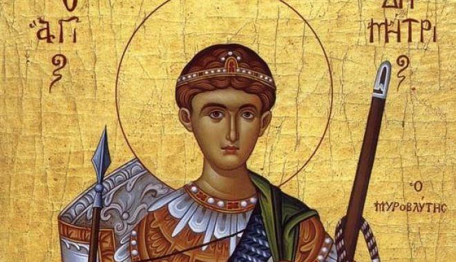 Foto: Ortodocșii îl cinstesc, sâmbătă, pe Sf. Mare Mucenic Dimitrie