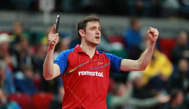 Foto: Ovidiu Ionescu, meciul carierei la Europenele  de tenis de masă