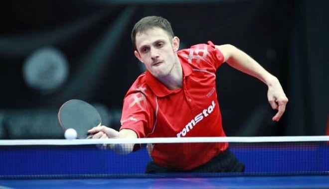 Foto: Ovidiu Ionescu, vicecampion european  la tenis de masă
