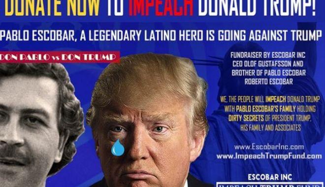 """Foto: Fratele lui Pablo Escobar cere o sumă exorbitantă pentru """"capul"""" lui Donald Trump"""