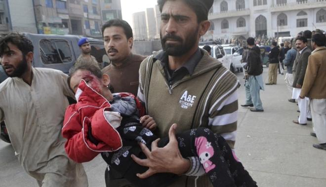 Foto: Atentat terorist în Pakistan.  123 de persoane au murit