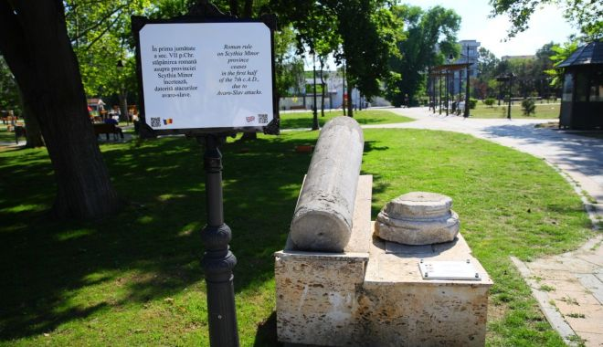 Primăria Constanța montează plăcuțe cu informații despre vestigiile vechiului Tomis - panouri1-1593016203.jpg