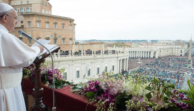 Foto: Papa Francis, apel pentru încetarea războiului  din Siria