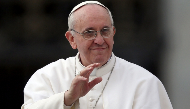 Foto: Papa Francisc cere încetarea războiului din Siria, condamnă terorismul și îndeamnă la pace în Orientul Mijlociu